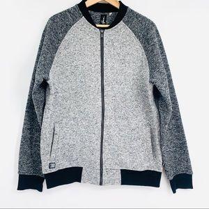 HOWE L gray/ black Color block sweater jacket